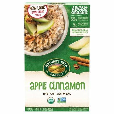Nature's Path Apple Cinnamon Instant Oatmeal