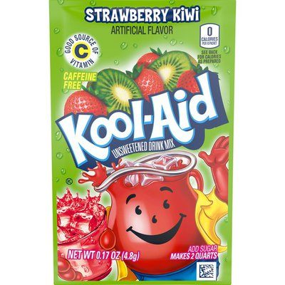 Kool-Aid Unsweetened Strawberry Kiwi Artificially Flavored Powdered Soft Drink Mix