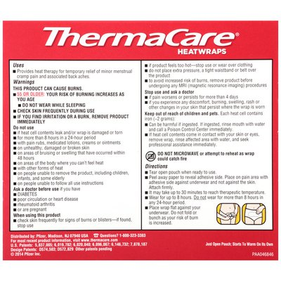 ThermaCare Advanced Menstrual Pain Therapy Heatwraps, Advanced Menstrual Pain Therapy Heatwraps