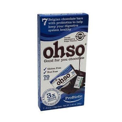 Ohso Ohso Probiotic Chocolate Bars