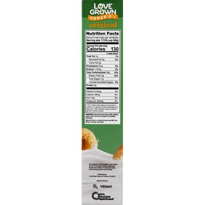Love Grown Cereal, Original, Power O's