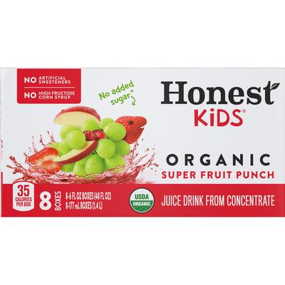 Honest Tea Kids Super Fruit Punch Cartons