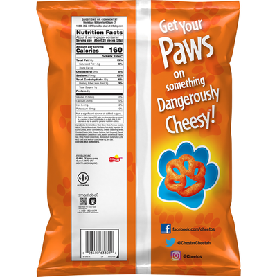 CHEETOS Paws Cheese Flavored Snacks