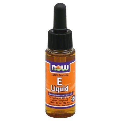 Now Natural E Liquid, Antioxidant Protection, Bottle