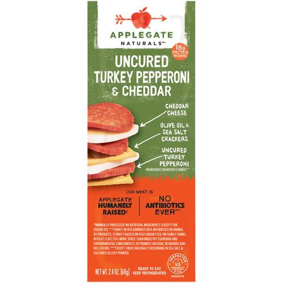Applegate Uncured Turkey Pepperoni & Cheddar