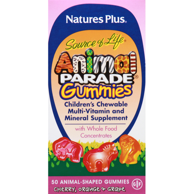 Nature's Plus Multi-Vitamin and Mineral Supplement, Animal-Shaped Gummies