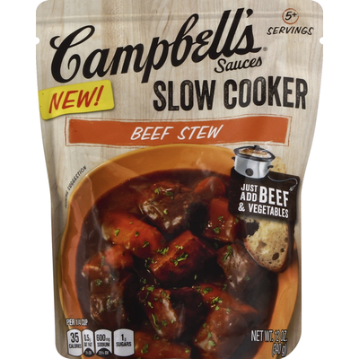 Campbell's® Slow Cooker Sauces Beef Stew Slow Cooker Sauce