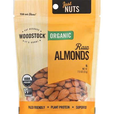 WOODSTOCK Almonds, Organic, Raw