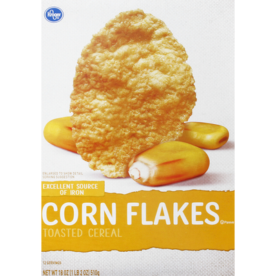 Kroger Toasted Cereal, Corn Flakes