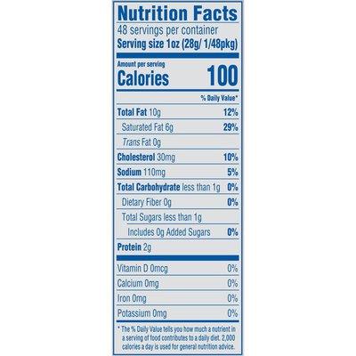 Philadelphia Light Cream Cheese Nutrition Label