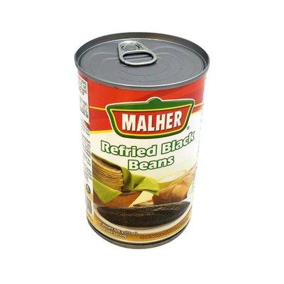 Malher Black Beans, Refried