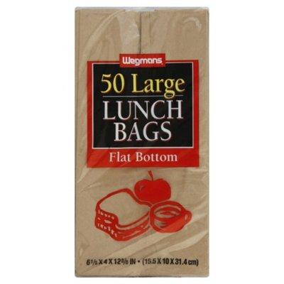 Wegmans Large Lunch Bags, Flat Bottom
