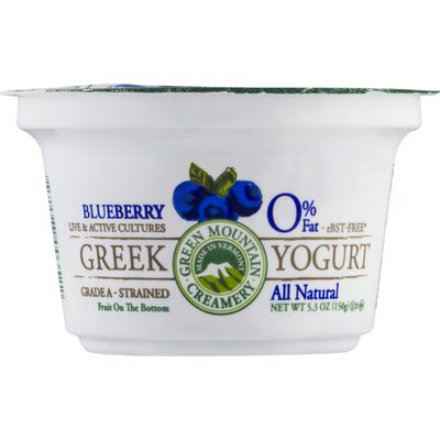 Green Mountain Creamery 0% Fat Greek Yogurt Blueberry
