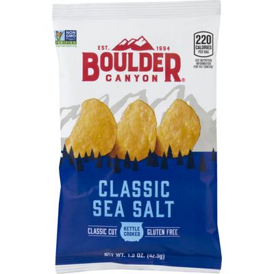 Boulder Canyon Classic Cut Potato Chips Classic Sea Salt