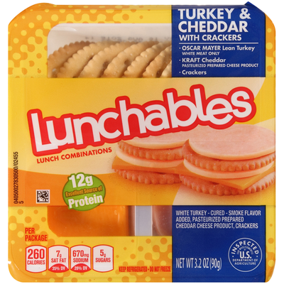 Lunchables Turkey & Cheddar Cheese with Crackers Snack Kit