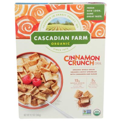 Cascadian Farm Cereal, Cinnamon Crunch