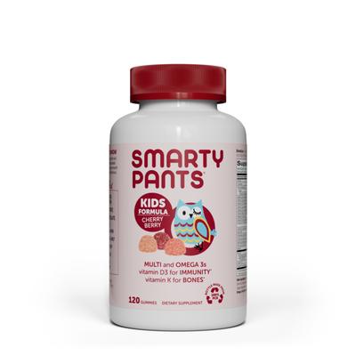 SmartyPants Daily Gummy Multivitamin Kids Cherry Berry: Vitamin C, D3, & Zinc for Immunity, Biotin, Omega 3 Fish Oil, Vitamin E, Iodine, Vitamin B6, Methyl B12