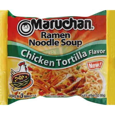 Maruchan Soup, Ramen Noodle, Chicken Tortilla Flavor