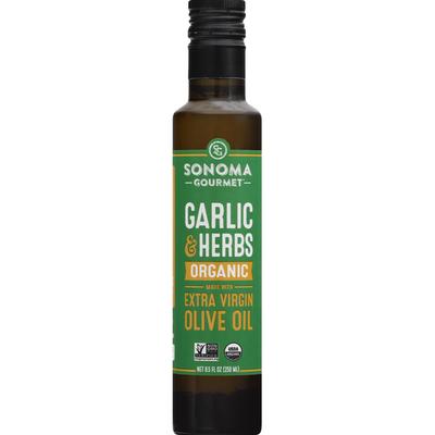 Sonoma Gourmet Olive Oil, Organic, Garlic & Herbs