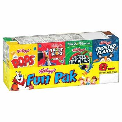 Kellogg's Fun Pak Breakfast Cereal, Variety Pack