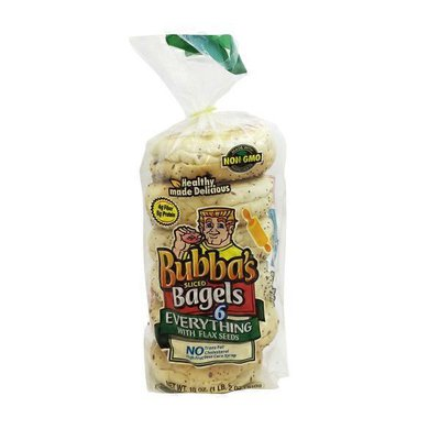 Bubba's Bagels, Everything with Flax Seeds, Sliced