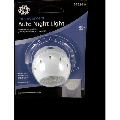 GE Accent Light, Auto On/Off At Dusk/Dawn Directional Plastic