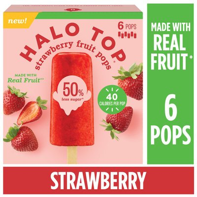 Halo Top Strawberry Fruit Pops