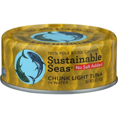 Sustainable Seas Chunk Light Tuna, In Water