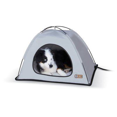 """K & H 26.5"""" x 30.5"""" x 14"""" Grey Thermo Tent"""