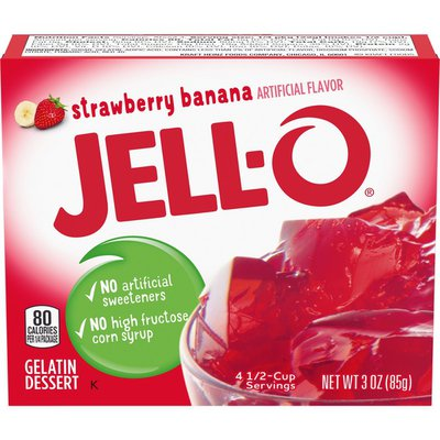 Jell-O Strawberry Banana Gelatin Dessert Mix