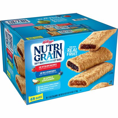 Kellogg's Nutri-Grain Soft Baked Breakfast Bars, Made with Real Fruit and Whole Grains, Variety Pack