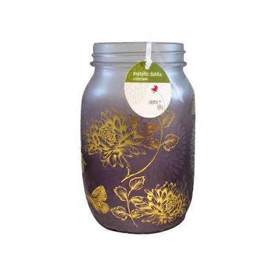 DL Dahlia Collection Metallic Mason Jar