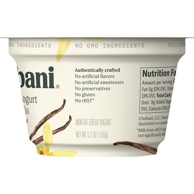 Chobani Vanilla Non-Fat Greek Yogurt