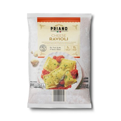 Priano Cheese Microwaveable Ravioli Premium Pasta Stuffed With A Smooth Blend Of Fresh Ricotta Cheese & Seasonings