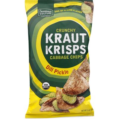 Farmhouse Culture Kraut Krisps, Dill Pickle, Crunchy