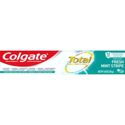 Colgate Toothpaste, Fresh Mint Stripe, Gel
