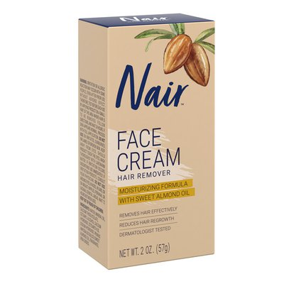 Nair Hair Remover Moisturizing Face Cream, With Sweet Almond Oil,