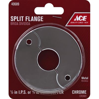 Ace Split Flange, Metal, Chrome
