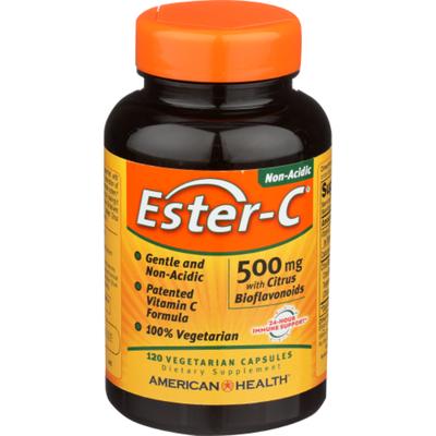 American Health Vitamin, C Formula, 500mg, Vegetarian,120 Capsules, Bottle
