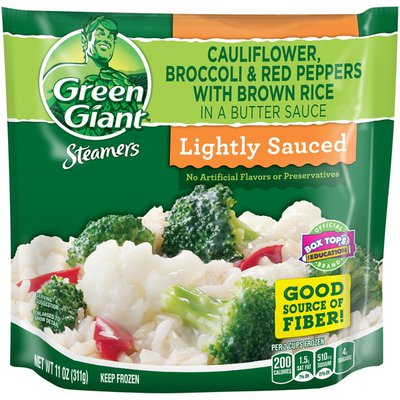 Green Giant Steamers Lightly Sauced Cauliflower, Broccoli & Red Peppers with Bro