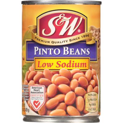 S&W Low Sodium Pinto Beans