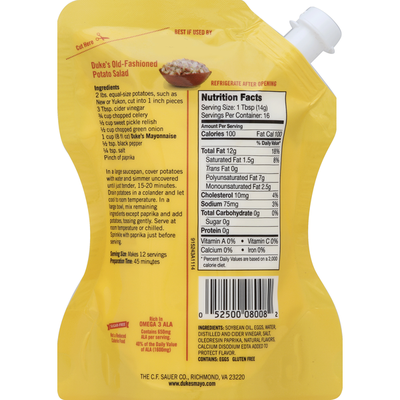 Duke's Mayonnaise, Real, Pouches