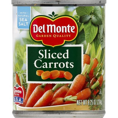 Del Monte Carrots, Sliced
