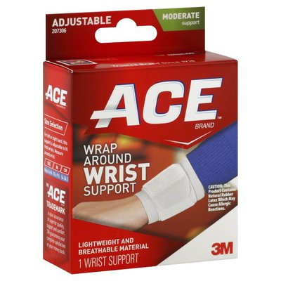 Ace Bakery Wrist Support, Wrap Around, Moderate Support, Adjustable