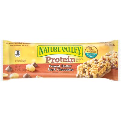Nature Valley Chewy Bar, Protein, Peanut Butter Dark Chocolate