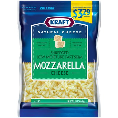 Kraft Mozzarella Low Moisture Part-Skim Pre-Priced $3.29 Shredded Cheese