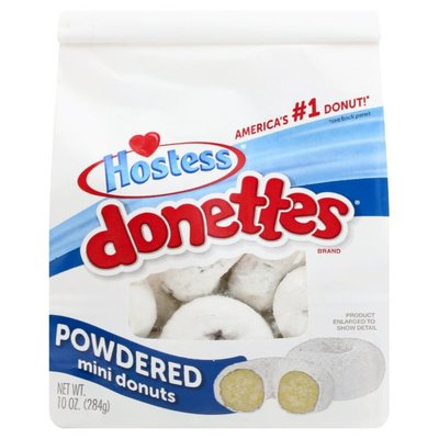 Hostess Powdered Sugar Donettes