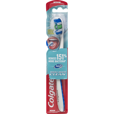 Colgate Toothbrush, Medium, Whole Mouth Clean