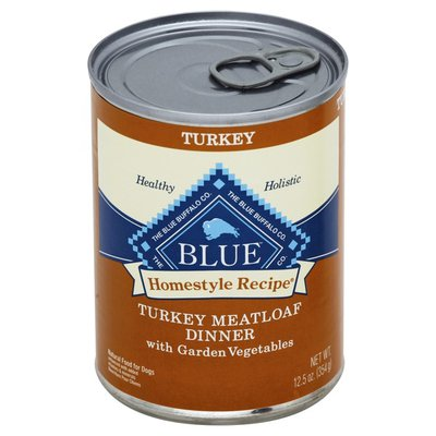 Blue Buffalo Homestyle Recipe Natural Adult Wet Dog Food, Turkey Meatloaf