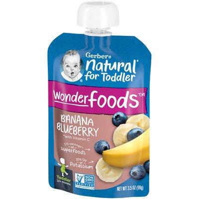Gerber Natural for Toddler Banana Blueberry Baby Food